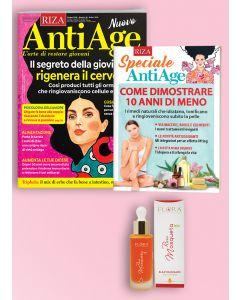 AntiAge - 12 numeri + 1 libro Come dimostrare 10 anni in meno + 1 olio viso&corpo rosa mosqueta FLORA