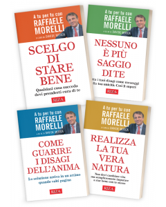 """4 libri della collana """"A tu per tu con Raffaele Morelli"""""""
